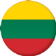 Lithuania Country Flag 25mm Keyring
